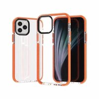 plain weave Two-tone Cell Phone Cases For iPhone 13 12 11 Pro Max Xs XR 7 8 Plus Clear Soft TPU Dual Color Hybrid Cover