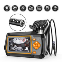 """Caméra d'endoscope à double objectif de 1080p 5.5mm 4.3 """"IPS LCD 2.0MP avec 6 LED pour une inspection de drain d'égout de voiture"""