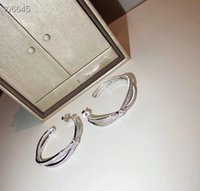 Luxury Liens Josephine Brand Designer S925 Sterling Silver Full Crystal Cross Charm Big Round Loop Earrings For Elegant Women