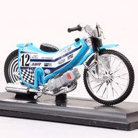 118 Waagen Mini No.12 Reiter Speedway Motorrad Modell Track Maisto Dirt Racing Bike GP Diecasts Spielzeug Fahrzeug Modell Sammlerstücke