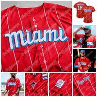 Miami personalizzato Marlins 2021 City Connect Jersey Gesù Aguilar Miguel Rojas Corey Dickerson Adam Duvall Brian Anderson Jazz Chisholm Jr. Lewis Brinson