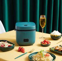 Mini cuisinière à riz électrique automatique cuisine ménage multifonction pot de cuisson 1-2 personnes petits cuisinières