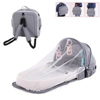 Multi-function Maternity Diaper Backpack Folding Chair Nappy Bag For Baby Travel Portable Crib Baby Nest Child Supplies Newborn_xm