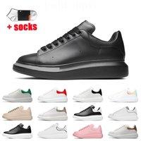 Натуральная кожа мода роскоши дизайнерские туфли женщин мужчины повседневные кроссовки белый черный 3 м рефлерист от туза платформа роскоши дизайнеры с носками тренеров размером 36-44