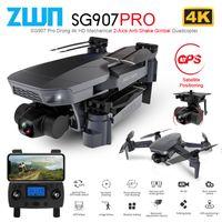 ZWN SG907 PRO / SG901 GPS Дрон с 2 осью Гимбаль камеры 4K HD 5G WiFi широкоугольный FPV Оптический поток RC Quadcopter Dron VS SG906 210325