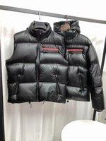 Designer Prad de alta qualidade para baixo jaqueta colete mens short winter tendência para casais femininos 90% branco pato grosso budge brilho s-2xl