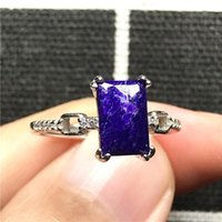 Cluster Rings 10x7mm Top Natural Purple Sugilite Ring Jewelry For Woman Man 925 Silver Anticancer Stone Beads Crystal Adjustable
