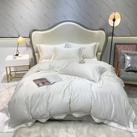 Bedding Sets 1000TC Egyptian Cotton Duvet Cover Ultra Soft Solid Color Chic Hollow Edge Set White Queen King Size BedSheet Pillowcase