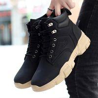 2021 yeni iş ayakkabıları rahat ayakkabılar yüksek top haki çöl büyük ayak botları kısa çizmeler askeri botlar mens 1