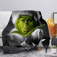Blankets CLOOCL Merry Christmas Warm Flannel Blanket 3D Print Green Hair Monster Throws Office Nap Quilt Adult Student