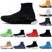 rkek Çorap Ayakkabı 2021 Speed Run Yüksek Top Spor Ayakkabı Bayan Modası Paris Üçlü S Siyah Beyaz Gri Kırmızı Platform Eğitmenler Luxurys Tasarımcılar Loafer'lar