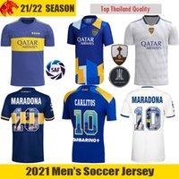 2021 Boca Juniors Futbol Formaları CARLITOS 21 22 MARADONA Carlos Tevez Futbol Forması SALVIO ABILA Boca Juniors Üçüncü Gömlek VILLA Erkek Forması Çocuk Kiti