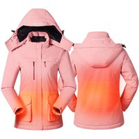 Paratago inverno Giacca Intelligente Intelligente Giacca USB Donna Cappotto riscaldato Cappotto Riscaldato Fleece Fleece Femmina Femminile Abiti da arrampicata P1233