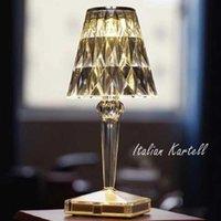 Table Lamps Nordic LED Night Lights Italian Kartell Diamond Desk Lamp For Bedroom Bedside Kids Room Study Home Deco Light