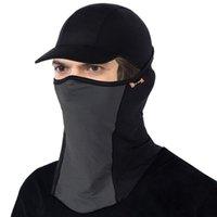 Cycling Caps & Masks 1Pcs Summer Sun Anti-UV Sport MTB Bike Helmet Hat Riding Bandana Motorcycle Face Mask Cover
