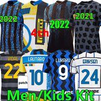 Inter milan 2021 2022 Camisas de futebol Quarto soccer jersey LUKAKU VIDAL BARELLA LAUTARO ERIKSEN ALEXIS HAKIM  20/21 football shirt uniforms Homens crianças kits