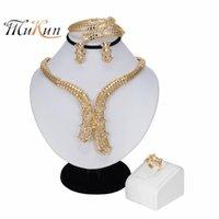 Earrings & Necklace MUKUN Nigerian Wedding Woman Accessories Jewelry Set Brand Dubai Gold Wholesale Fashion Long Statement