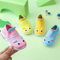 First Walkers 2021 Summer Cartoon Kids Baby Casual Shoes Toddler Infant Little Girls Boys Cute Knitted Sneakers