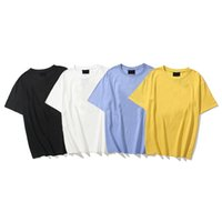 2021 Mens T shirts Designer Yellow Face Printed Cotton Stylish Casual Summer Breathable Clothing Men Women Top Quality Clothes Couples Tees