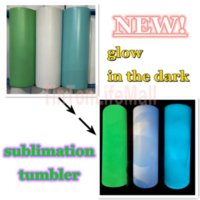 New sublimation STRAIGHT tumbler blank glow in the dark tumbler 20oz with Luminous paint Luminescent staliness steel tumblers magic travel cup FY4467
