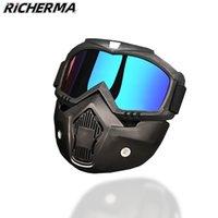 2020 esporte motocross com boca removível óculos de motocicleta de bicicleta de ciclismo máscara de esqui racer máscara de esqui óculos de sol