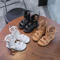 Девушки римские Обувь Детские Детские Мода Комфорт Досуг Маленькая Детская Принцесса Девушки Сандалии Высокая Трубка Обувь Only Toe 2021