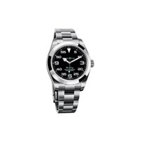 탑 럭셔리 남작 시계 exp air king series 116900 및 216570 블랙 40mm 다이얼 자동 기계 운동 316 철강 밀기울 디자이너 시계