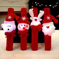Favor Favor Criativo Brinquedos Criativos Cute Dos Desenhos Animados Santa Claus Glow Circle Circle And Cleap Bracelet Presente pode ser usado Relead