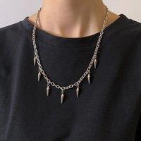 Pendant Necklaces Titanium Steel Rivet Necklace Men Street Hip-hop Trend Simple Gothic Style Tassel Party Holiday For Women Accessories Chai