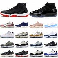 11 11s 25º aniversário jordan Criado Concord 45 Espaço Homens Sapatos de Basquete 12 12s Indigo Jogo Royal Gripe Reversa Jogo Mens Mulheres Esportes Sneakers