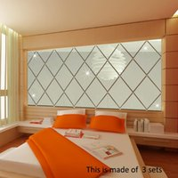 Wallpapers 3D Mirror Wall Stickers DIY Living Room Bedroom Bathroom Tiles Acrylic Plastic Decal Film Home Decor