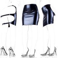Produits de sexe pour adultes Cuir Sclaave Spanking Jupe Spanking Open Hip Bondage Fétiche Lingerie Erotic Sexy Mini robe