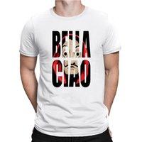Camisetas para hombre, camisa manga corta algodn con estampado serie geld heist tv, la casa de papel