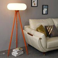 Floor Lamps Nordic Lamp Modern Wood Tripod For Living Room Bedroom Study Decor Table Light Interior Lighting Standing