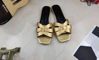Early spring fashion leather slippers, classic Roman style flat shoes, noble sandals