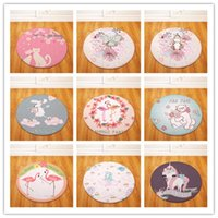 Cushion Decorative Pillow Modern Fashion Nordic Animal Round Chair Table Desk Mat Living Room Bedroom Area Rug Decorative Carpet