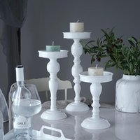 Other Bakeware High Feet Candle Holder Mini Cupcake Stand White Wedding Cake Table Decorating Party Suppliers For Fondant Dessert