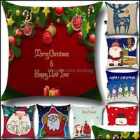 Bedding Supplies Textiles & Gardenlinen Merry Christmas Cushion Er Xmas Square Throw Pillow Case For Home Mr Reindeer Decorateive 20 Styles