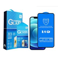 10D Tempered Glass Screen Protectors For iPhone 13 13pro max 12 Mini 12pro Promax X XR XS Max8 7 Full Glue Cover Protective Film With Package