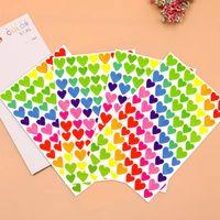 Compte de la main pour enfants Autocollant Rainbow Love DIY Creative Glass Po Album Ensemble avec petit cadeau 490SS723
