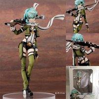 Hot Anime Sword Art Online (Sao) Sinon Gun Gale Online (GGO) Charaktere SHINO Asada PVC Action Figure Collection Modell Spielzeug x0503