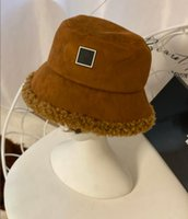 Designer Wool Suede Bucket Hat For Women WITH BOX Luxury Autumn Winter Ladies Letter Warm Ski Caps Fitted Unisex Lovers Casual Outdoor Fisherman Hats