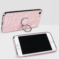 Marmor Universal-Telefon-Ringhalter-Ständer Finger Kickstand 360 ° Rotation Metallgriff Magnetische Autohalterung für iPhone 12 11Pro Max x Samsung