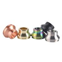 24 mm 22 mm Cumbre Metal Amplio Bore Drip Tips 5 colores para 528 Goon RDA Limitless RDTA Atomizador Vapor Vapor Boquilla Alta Calidad Precio al por mayor