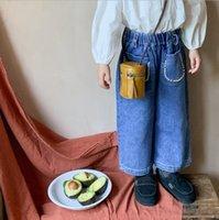 Jeans 2021 Arrival Girls Boys Denim Long Pants Autumn Fashion Kids Jean 1-7 Years WU917