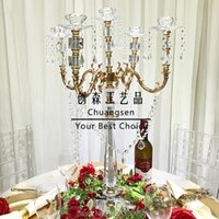 Candle Holders Crystal Holder Gold Stand Wedding Candelabra Table Centerpiece Metal Candlesticks Party Decor Lead Road