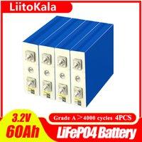 4 шт. Liitokala 3.2V 60ah Литиевая батарея Глубокий 4000 Цикл для DIY 12V 24V 36V 48V Солнечная энергия хранения энергии RV Солнечная панель Caravan