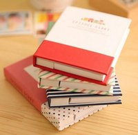 Hardcover Diary Notebook Notepad Sticky Notes Student Office School Writing Supplies SN4076