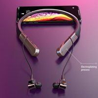 6-Moving Circle Bluetooth 5.1 Wireless Headset Hifi Sound Quality Noise Reduction Neck-Mounted Sports Magnetic Earphones Headphones &