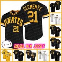 피츠버그 21 Roberto Clemente Piertes Jerseys 13 Ke'bryan Hayes Adam Frazier Colin Moran Baseball Jared Oliva Bryan Reynolds Mitch Keller